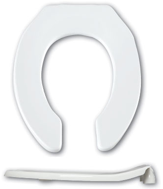 Great Looking Commercial Toilet Seats For Your High Traffic Restroom - Toilet seat with no lid