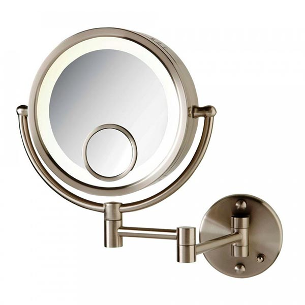 Halo Lighted Wall Mounted Mirror With Inset