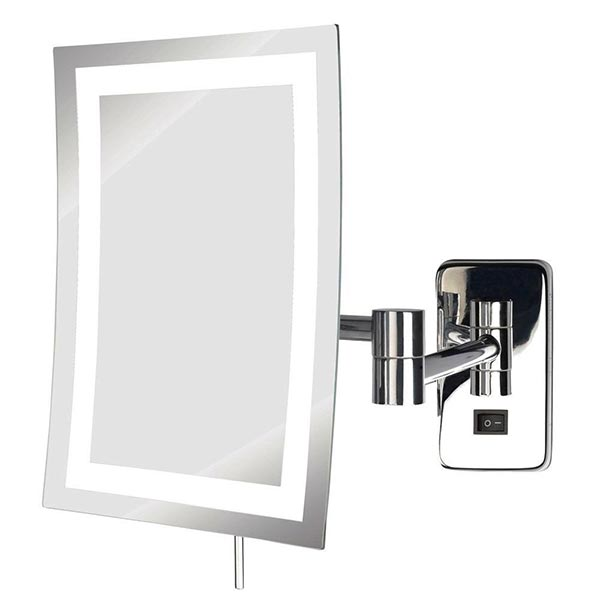 LED Lighted Rectangle Wall Mounted Mirror