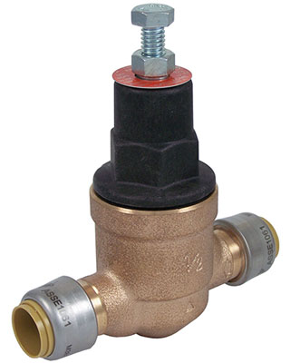 Sharkbite pressure regulator with direct connection