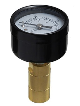 Sharkbite pressure gauge with push-fit shank