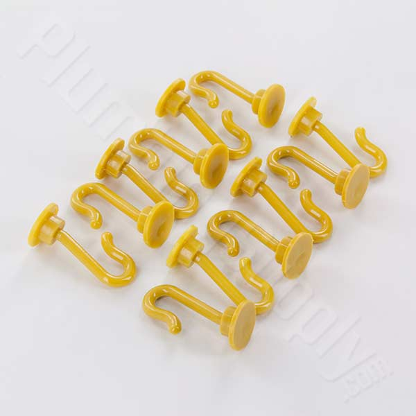 Yellow/Goldenrod shower curtain glide pins