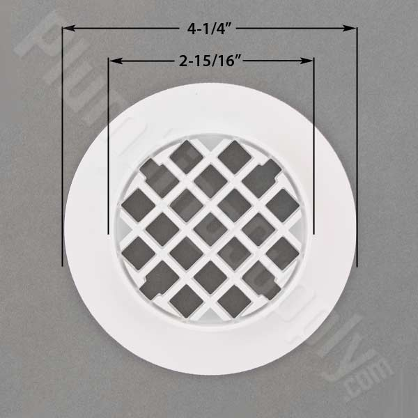Casper White Drain Cover