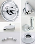 Jaclo Retro lever handle thermostatic tub and shower system