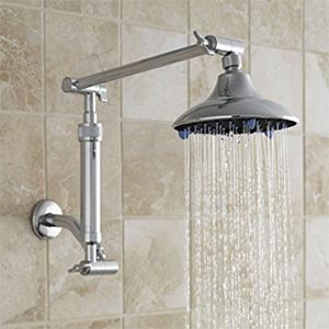 Installation example of filtered shower arm