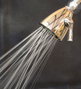 luxurious 8 jet all brass deluxe showerhead - full body