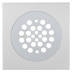 White finished shower pan drain cover