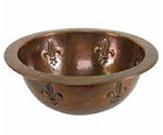 Hammered copper bathroom sink