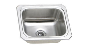 single bowl sink with no faucet hole