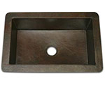 Soci copper single bowl undermount sink