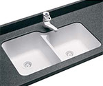 Swanstone classic double bowl undermount kitchen sink