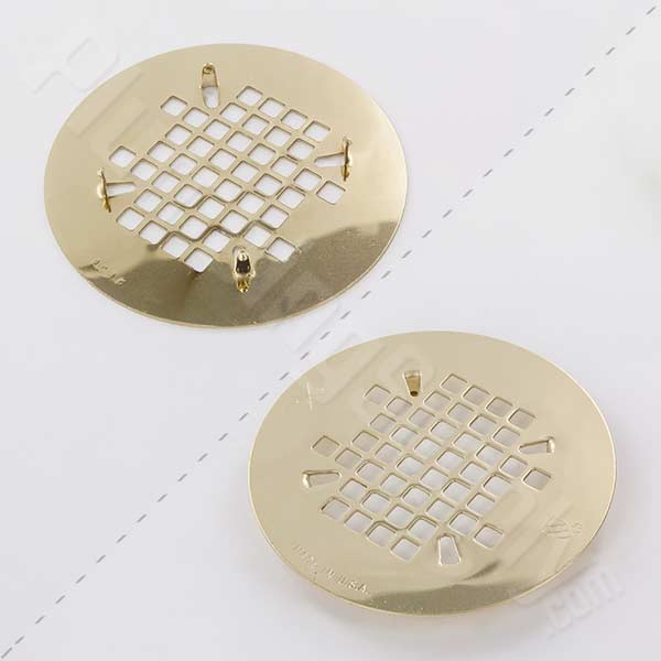 Snap-In replacement strainer in Polished Brass finish