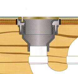 Floor Drains For Upper Levels And Deck