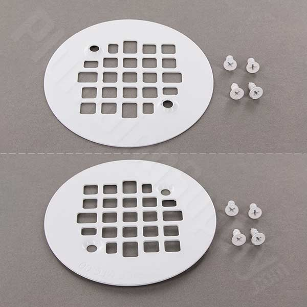 Screw-In replacement strainer in White Enamel finish