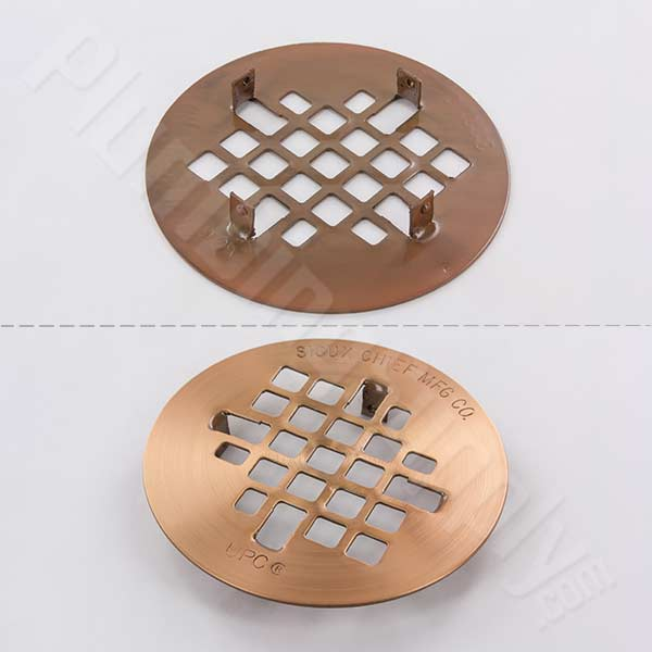 Snap-In replacement strainer in Satin Copper finish