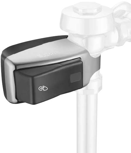 example of an installed Sloan EBV-200-A handicap friendly hands-free operator valve