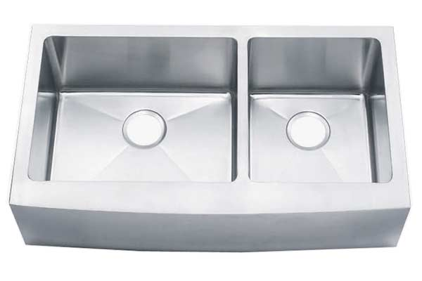 Double bowl 60/40 bowed apron front sink