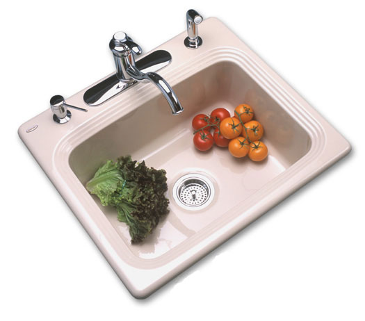 Single Bowl Kitchen Sinks - beautiful as porcelain strong as cast iron