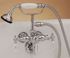 Photo of P0154 clawfoot leg tub faucet, shown in chrome