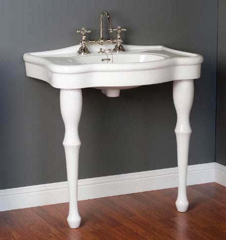 2 Pedestal Sinks Bathroom : Unique Two Legged Pedestal Lavatory sinks