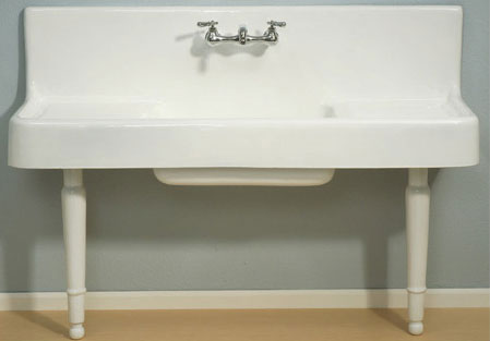 Luxury farmhouse sink with adjustable legs