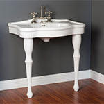 Two-legged old-fashioned lavatory console sink