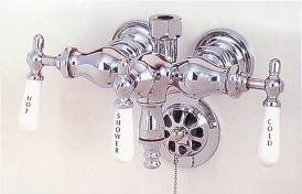 Photo of P0006 clawfoot leg tub faucet, shown in chrome