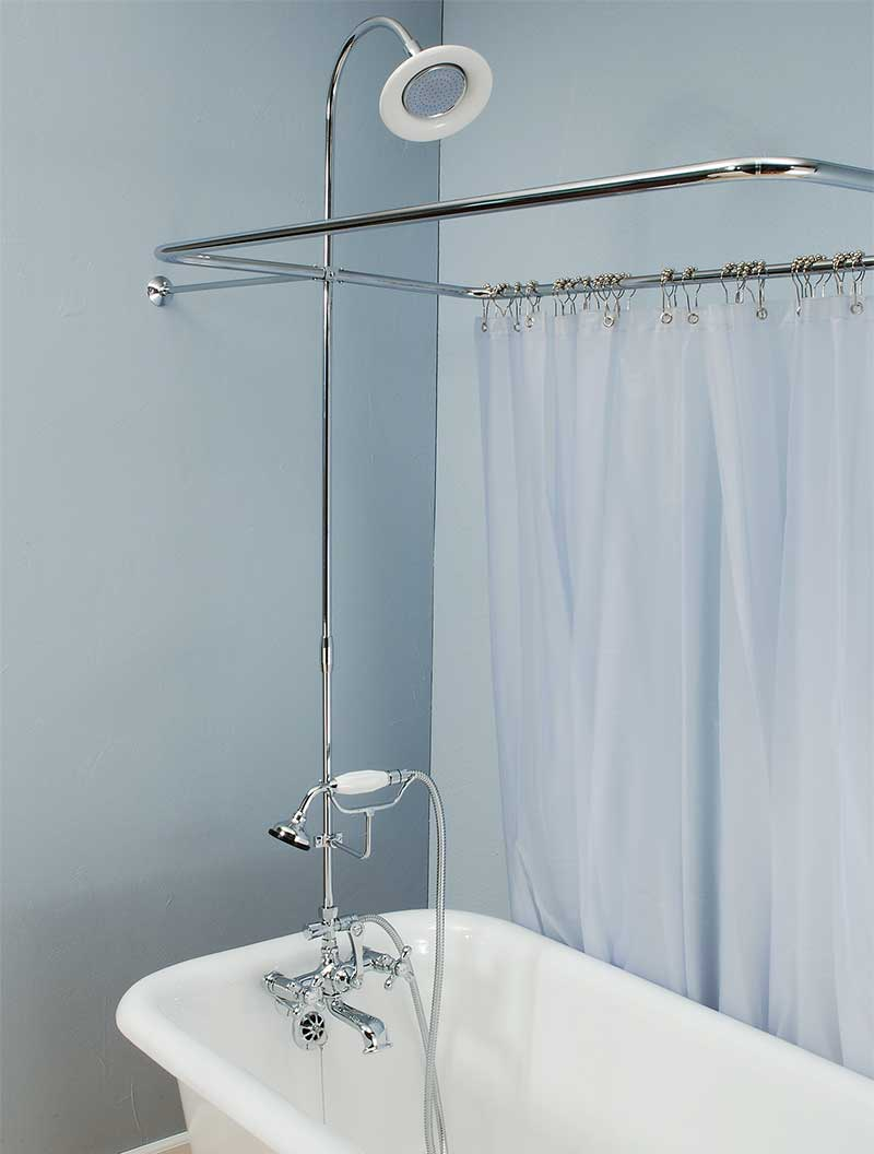 Add Shower To Clawfoot Tub. P0168 Shower Enclosure Set Clawfoot Sets