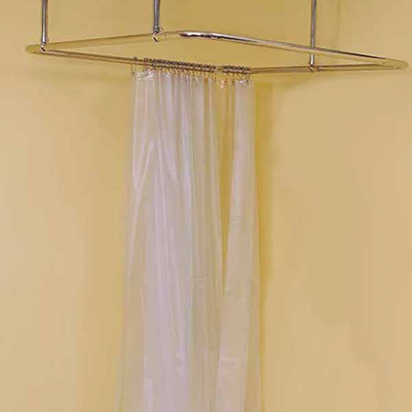 Square Shower Curtain Rod Enclosure Shown With