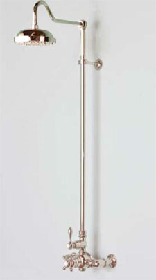 Victorian style exposed thermostatic shower system, model P0901N