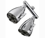 Deluxe dual shower head by Speakman