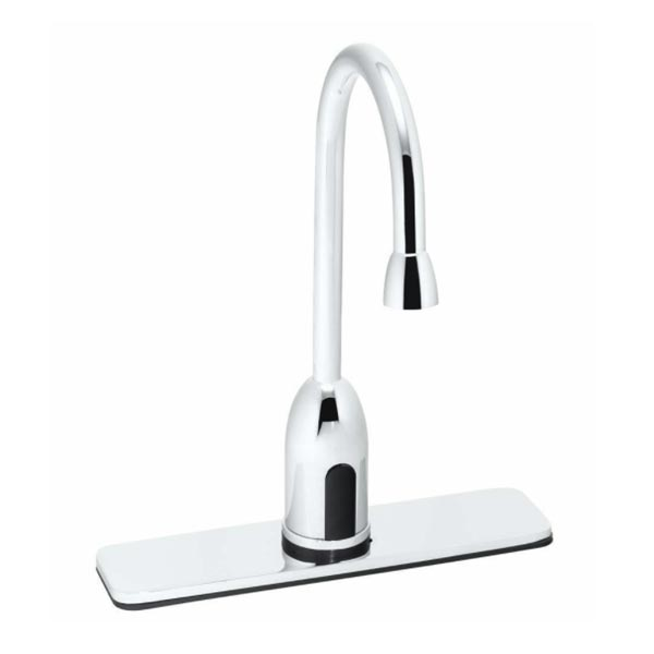 Speakman chrome sensor operated gooseneck faucet with 8in deckplate