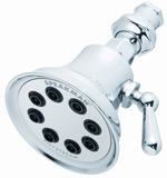 Brushed/Satin nickel 8-jet retro showerhead