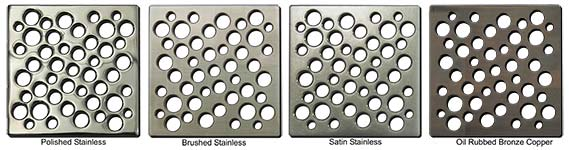 Bubble pattern square shower drains