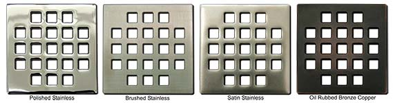 Classic pattern square shower drains