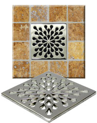 Attractive Example Of An Installed Square Drain Cover
