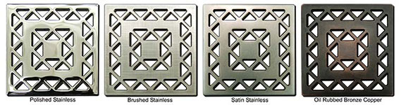 Lattice pattern square shower drains