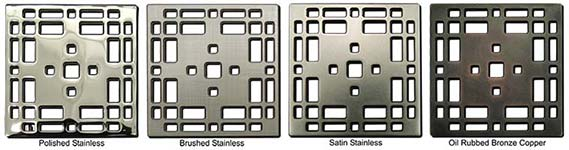 Prairie pattern square shower drains