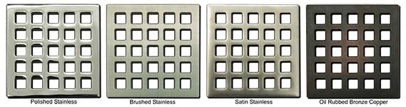 Quadra pattern square shower drains