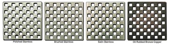 Weave pattern square shower drains