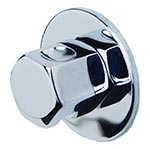 Steam-Whirl steam head and escutcheon in Polished Nickel finish