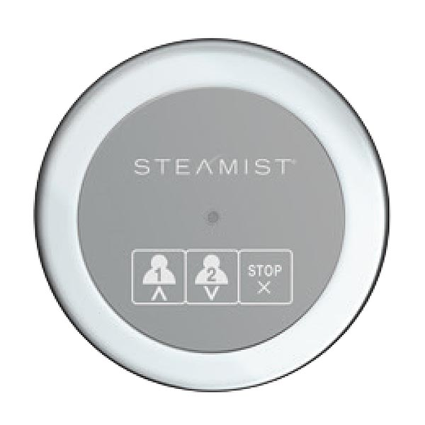 Steamist 220 digital controller in Round style