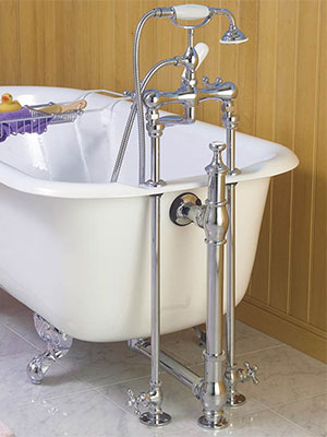 Rigid Supply Lines & Accessories for Clawfoot Bathtubs