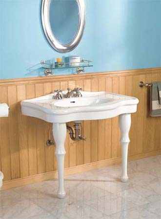 Two Leg Pedestal Sink : Sunrise Specialty Lavatory Faucets, Sinks, & Accessories
