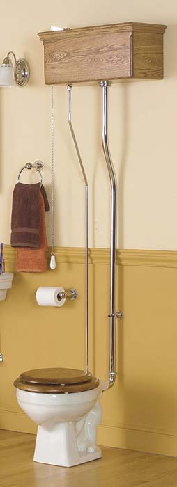 Old Fashion Victorian Style Pull Chain Toilets