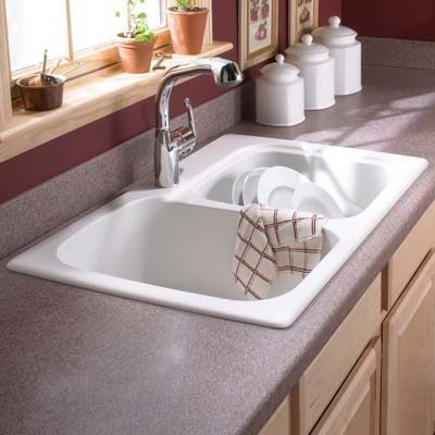 Drop in swanstone sinks swanstone double bowl kitchen sink in white workwithnaturefo