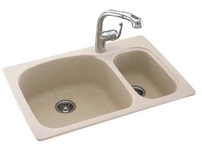 Swanstone Hi Low Double Bowl Sink
