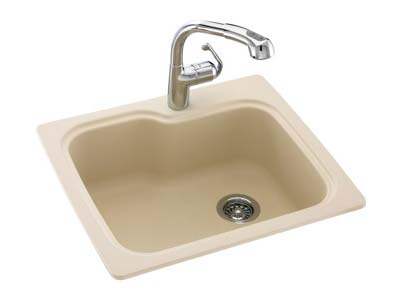 Compact single bowl sink