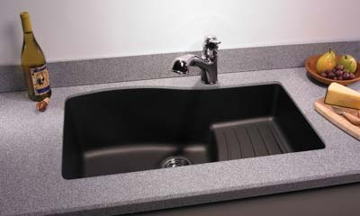 Quartz Sink # QUAD 3322 Single Bowl Kitchen Sink