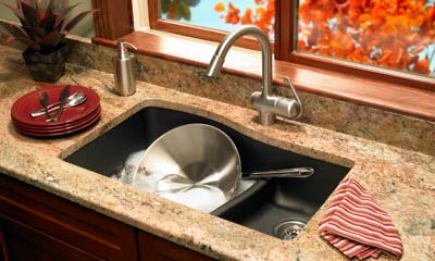 Quartz sink # QULS-3322 double bowl kitchen sink